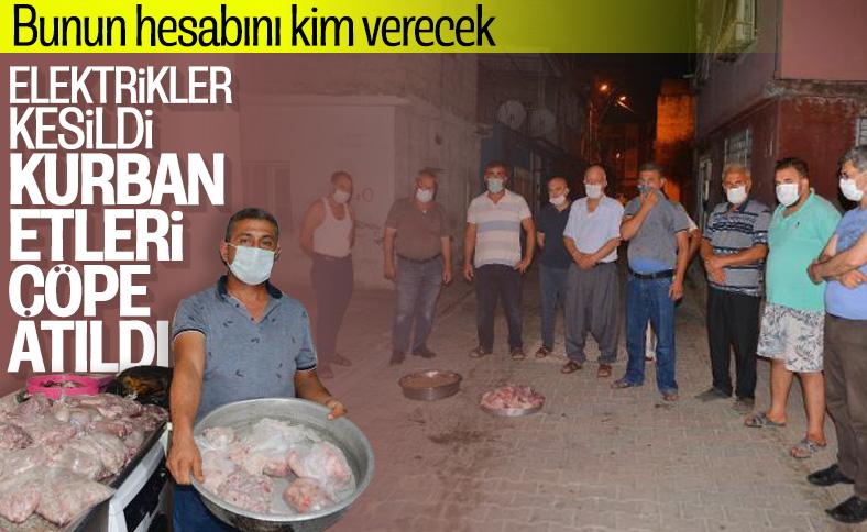 Adana'da elektrik kesintisi, etlerin bozulmasına yol açtı