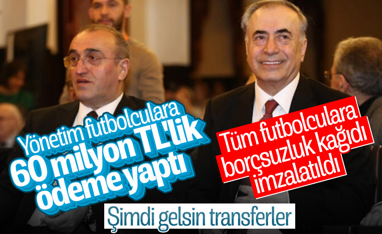 Galatasaray'da futbolculara ödeme yapıldı
