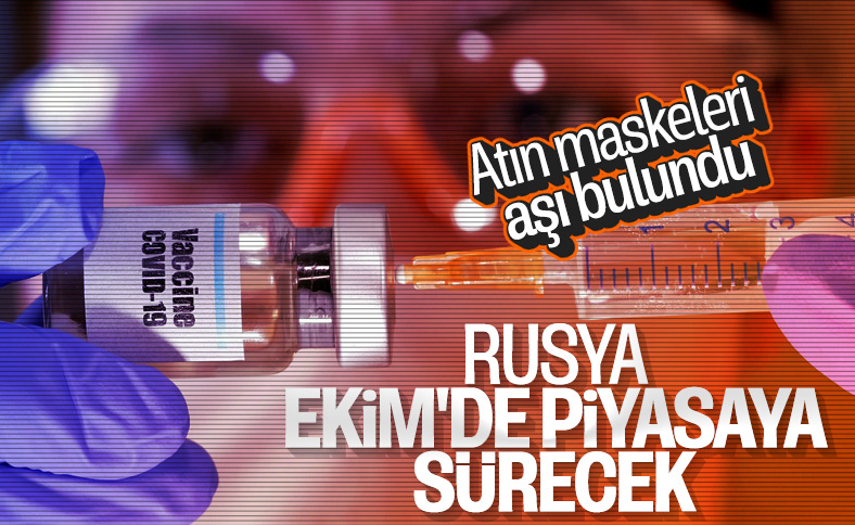 Rusya korona aşısını ekim ayında piyasaya sürecek