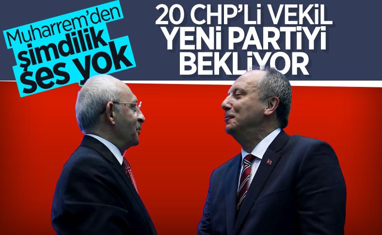 CHP'den 20 vekil İnce'nin yeni partisini bekliyor