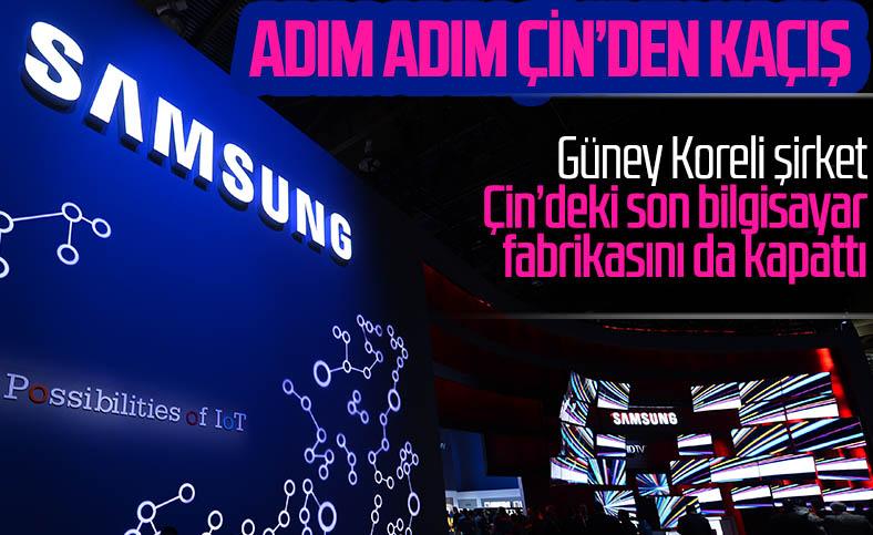 Samsung, Çin'deki son bilgisayar fabrikasını da kapattı