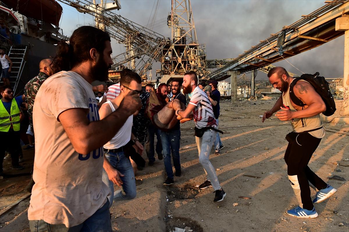 Lübnan'ın başkenti Beyrut'ta patlama #9