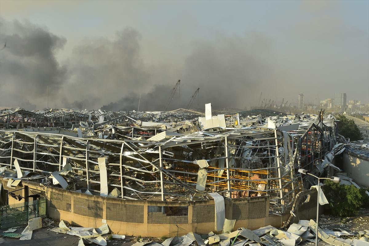 Lübnan'ın başkenti Beyrut'ta patlama #7