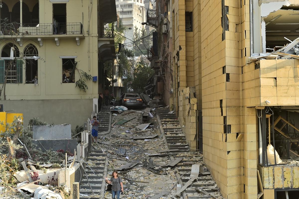 Lübnan'ın başkenti Beyrut'ta patlama #2