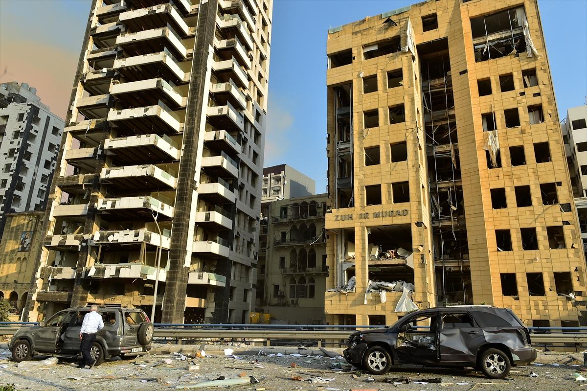 Lübnan'ın başkenti Beyrut'ta patlama #6