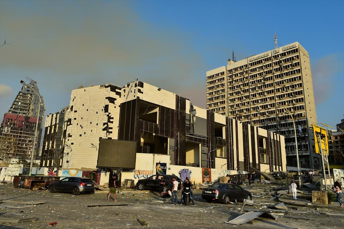 Lübnan'ın başkenti Beyrut'ta patlama #16