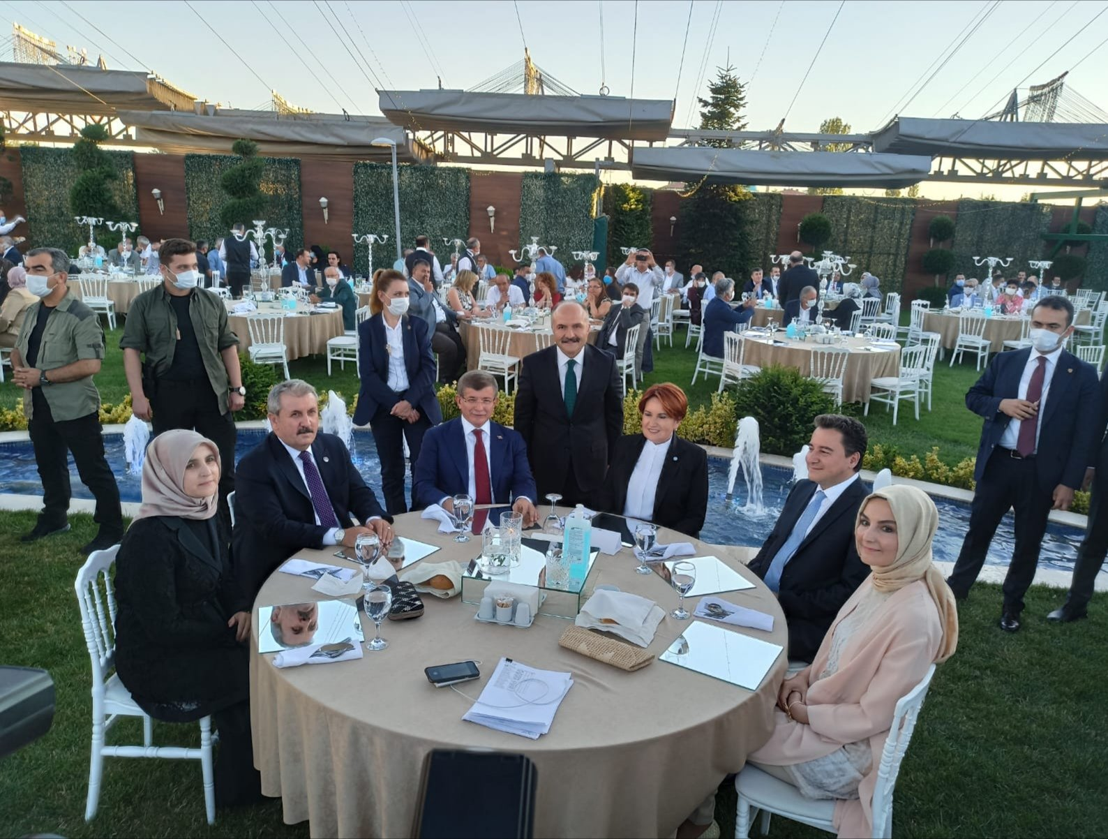 Davutoğlu, Babacan, Akşener ve Destici düğünde buluştu #1