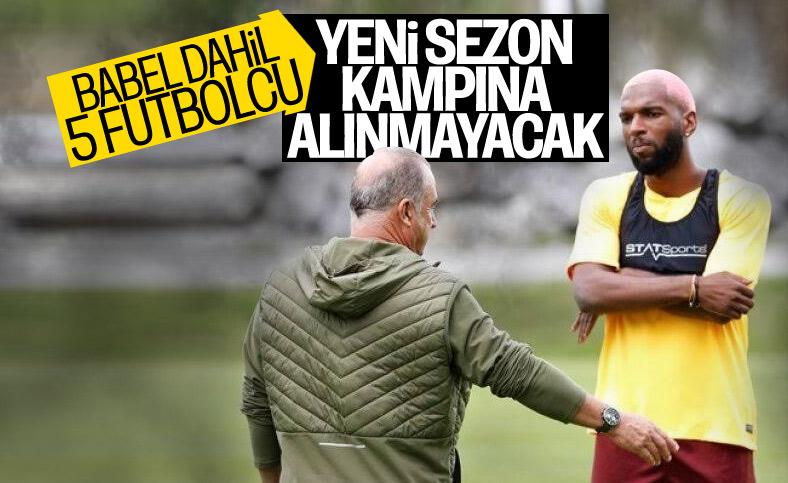 Galatasaray'da kamp kadrosuna alınmayacak isimler