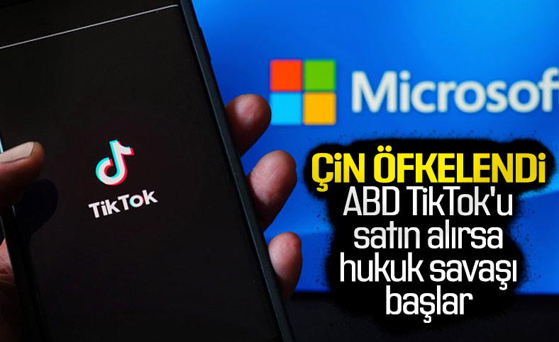 Microsoft'un TikTok'u almak istemesi Çin'i öfkelendirdi
