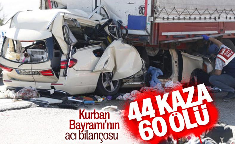 Kurban Bayramı bilançosu: 60 kişi hayatını kaybetti