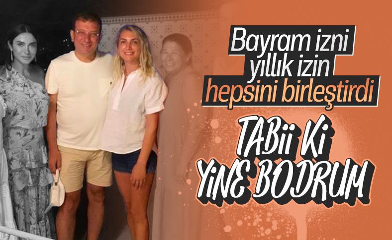 Ekrem İmamoğlu ailesiyle birlikte Bodrum'da