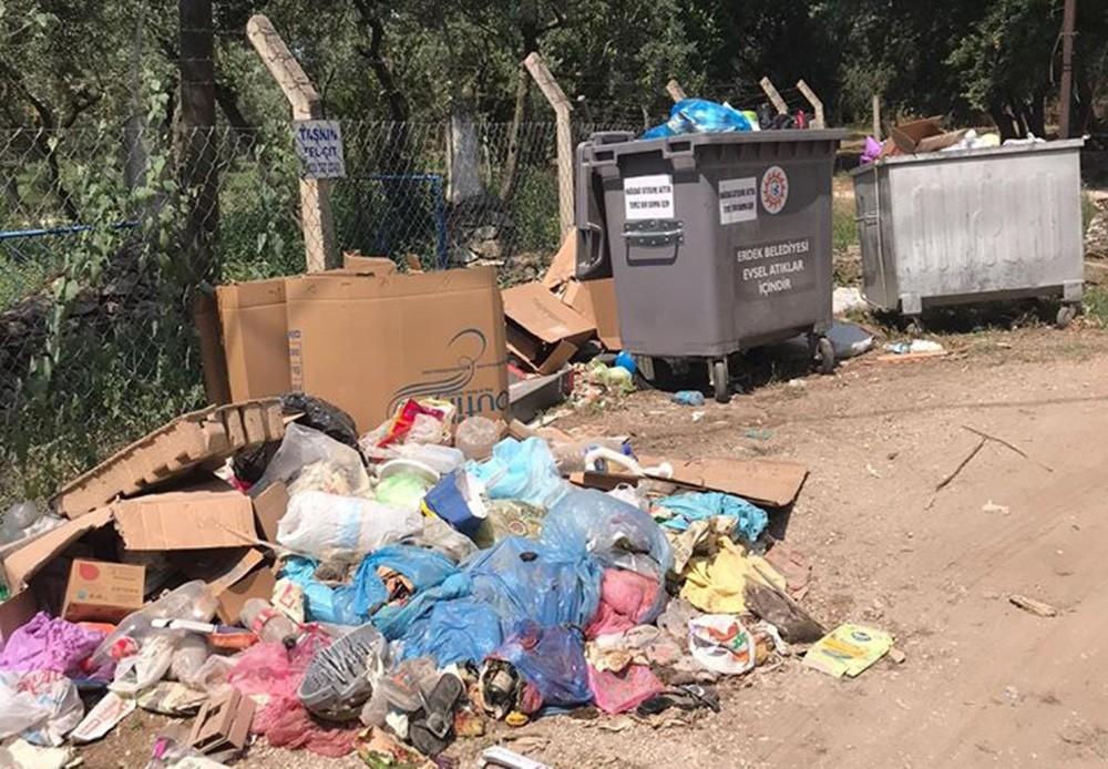 Erdek, tatilcilerden sonra çöpten geçilmiyor #3