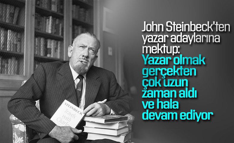 Gerçekçi yazar John Steinbeck'ten yazar adaylarına mektup