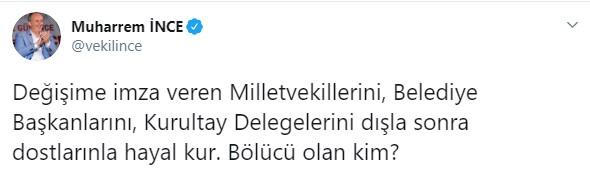 Muharrem İnce'den Kılıçdaroğlu'na: Bölücü olan kim #1