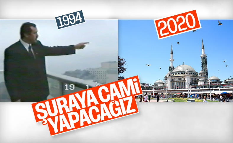 Taksim Camii'nde sona doğru