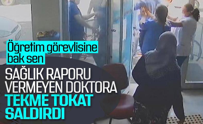 Eskişehir'de, sağlık raporu vermeyen doktorlara saldırı
