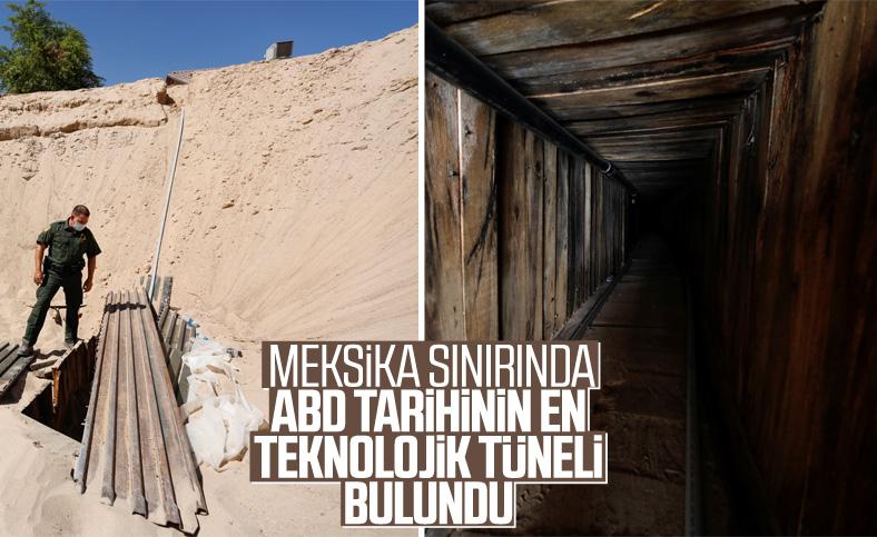 ABD Meksika sınırında tünel bulundu