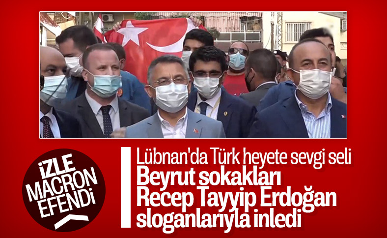 Beyrut'ta Recep Tayyip Erdoğan sloganları