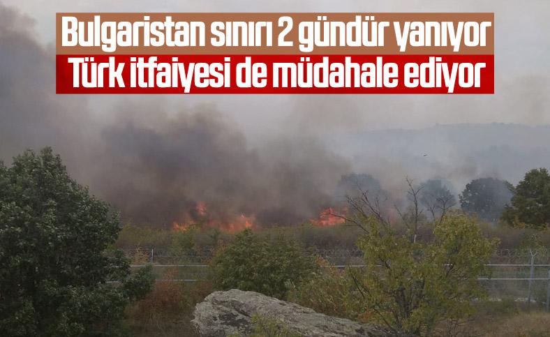 Bulgaristan sınırındaki yangın, Türkiye'yi alarma geçirdi