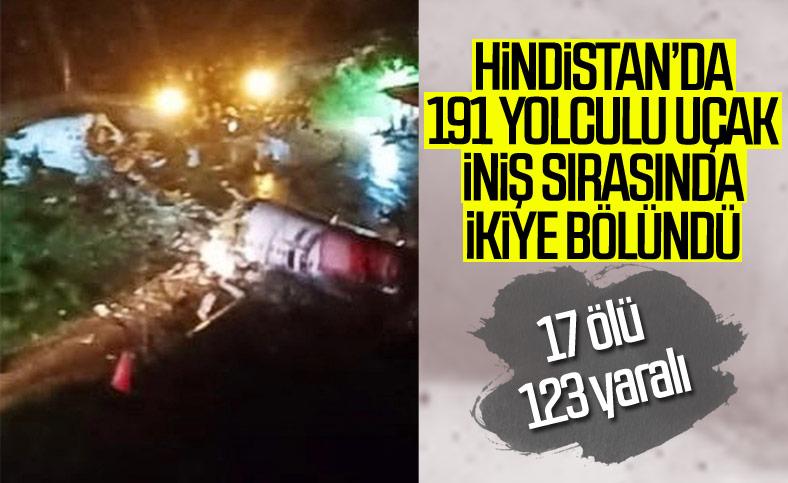 Hindistan'da 191 kişiyi taşıyan uçak kaza yaptı
