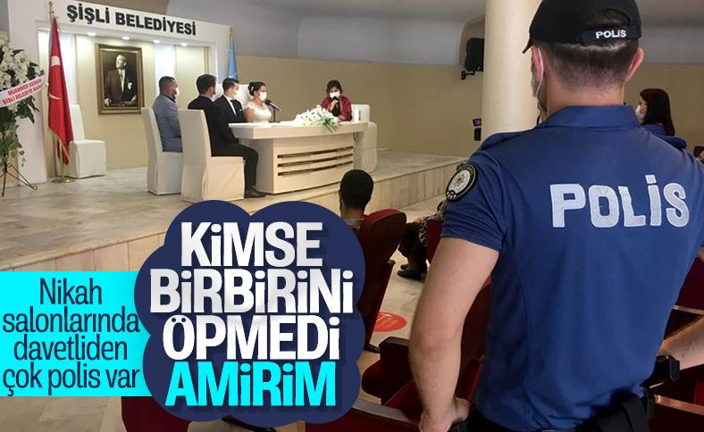 İstanbul'da nikah salonları denetlendi
