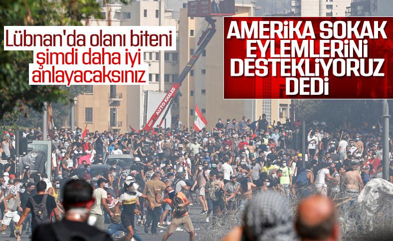 ABD: Lübnan'daki barışçıl gösterileri destekliyoruz