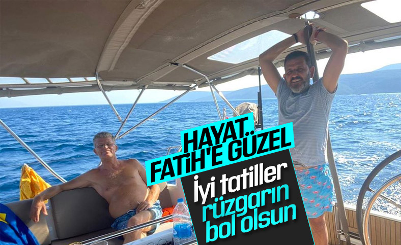 Fatih Portakal'ın tekne keyfi