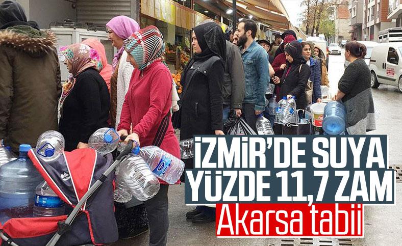 İzmir'de suya yüzde 11,7 zam