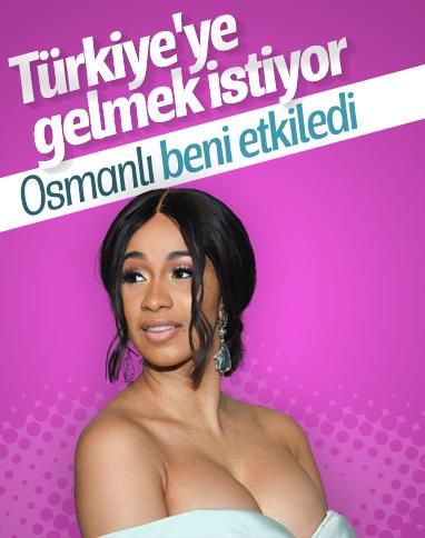 Cardi B, Türkiye'ye gelmek istiyor