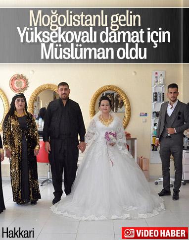 Moğolistan'dan Hakkari'ye gelin geldi