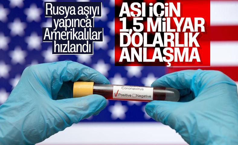 ABD'den 1,5 milyar dolarlık aşı anlaşması