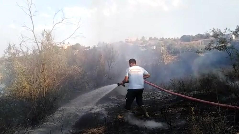 Mersin de piknikçilerin uğrak yerinde yangın çıktı #2