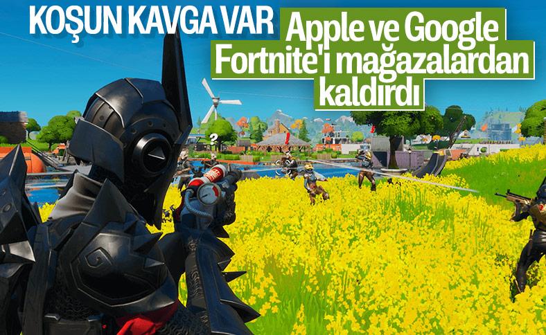 Epic Games'ten Fortnite'ı kaldıran Apple ve Google'a dava