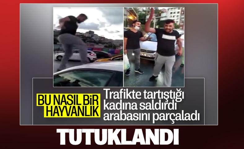 İstanbul'da tartıştığı kadına saldıran şahıs tutuklandı