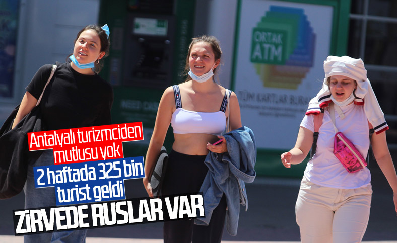 Antalya'ya 15 günde 325 bin turist geldi