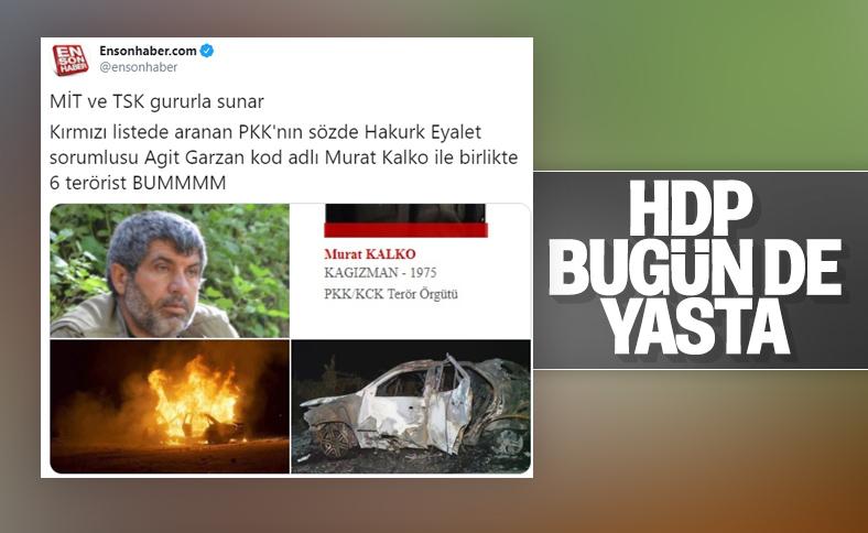 PKK'lı Murat Kalko MİT tarafından öldürüldü