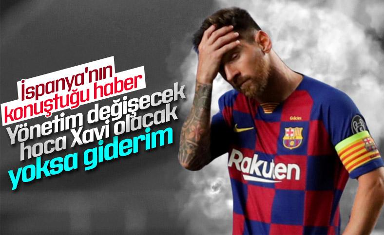 Lionel Messi, takımın başında Xavi'yi görmek istiyor