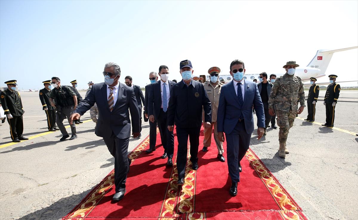 Bakan Akar, Genelkurmay Başkanı Güler ile Libya da #5