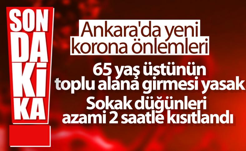 Ankara'da 65 yaş üstü için kısıtlama kararı