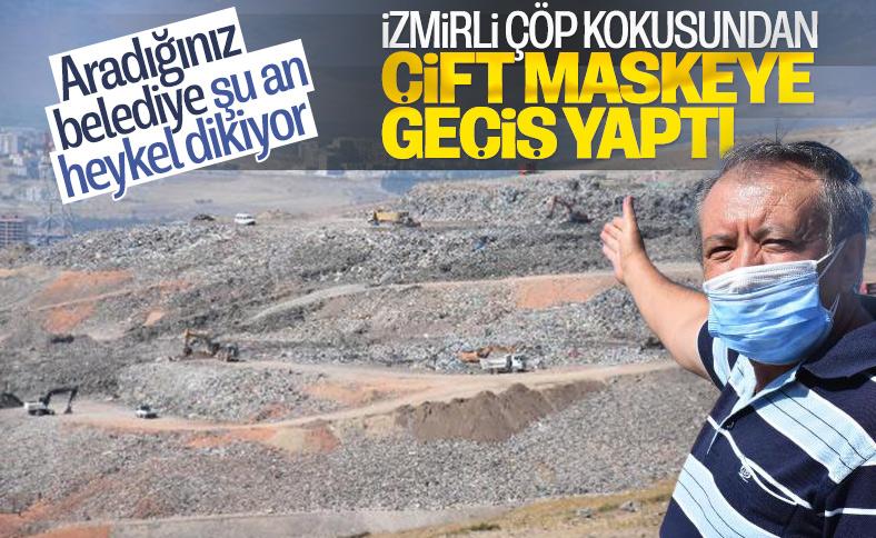 İzmir'deki çöp kokusuna maskeli çözüm