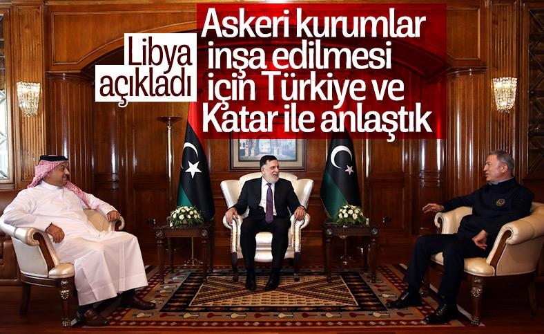 Libya, askeri kurumlar inşa edilmesi için Türkiye ve Katar ile anlaştı