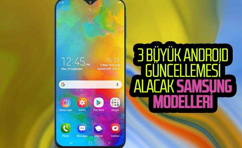 3 yıl daha Android güncellemesi alacak Samsung modelleri