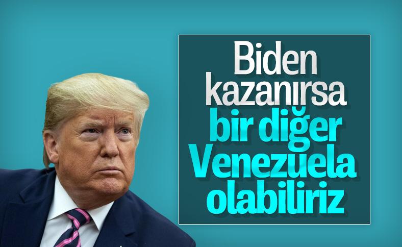 Trump: Biden kazanırsa, bir diğer Venezuela olabiliriz