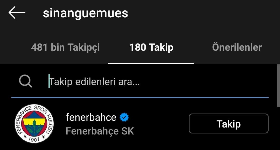 Sinan Gümüş Fenerbahçe de #1