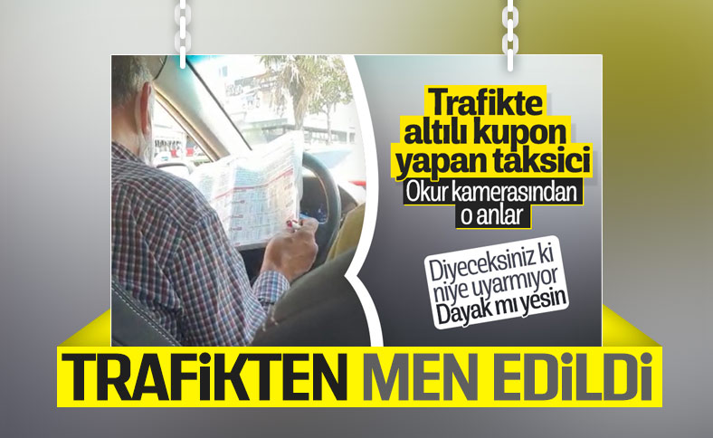 İstanbul'da seyir halinde at yarışı oynayan taksi şoförüne ceza geldi