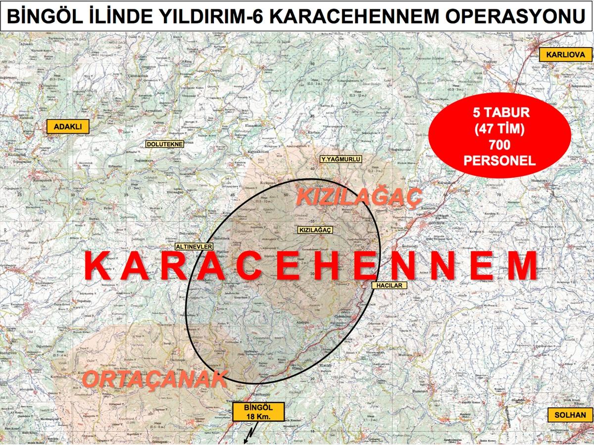 Bingöl de Yıldırım-6 Karacehennem Operasyonu başlatıldı #1