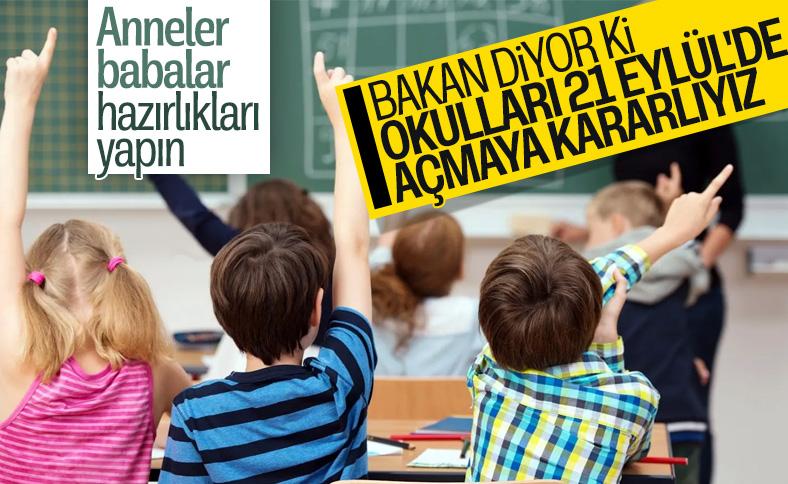 Ziya Selçuk okulların nasıl açılacağını duyurdu