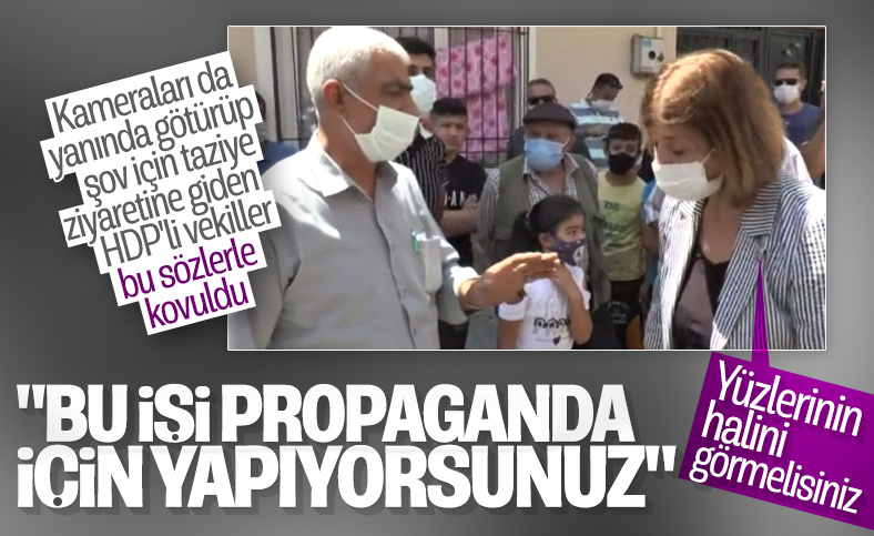 Gaziantep'te vatandaşların HDP'lilere propaganda tepkisi