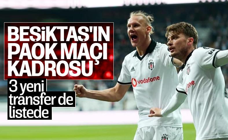 Beşiktaş'ın UEFA'ya bildirdiği kadro belli oldu