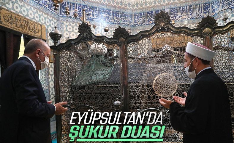 Cumhurbaşkanı Erdoğan Eyüpsultan Camii'nde